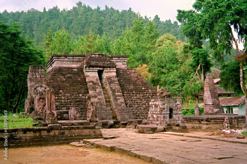 Mexican-style hindu temple in Java, Candi Sukuh, Indonesia