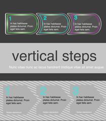 Vector horizontal steps