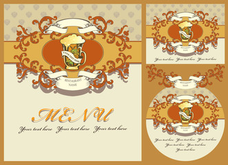 set of design element for the beer menu