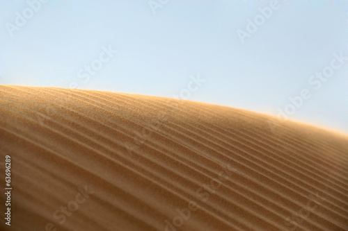 Empty sand dune in the desert