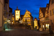 Rothenburg ob der Tauber by night