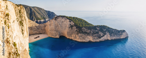 Amazing Navagio Beach with Shipwreck in Zakynthos, Greece