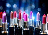 Fototapety Fashion Colorful Lipsticks. Professional Makeup and Beauty
