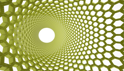 Green abstract mesh background