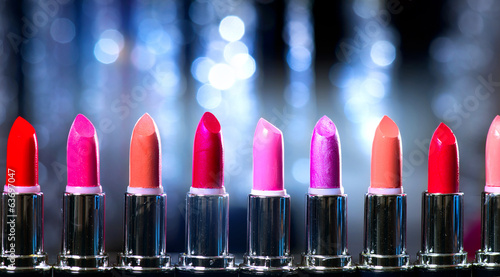 Fashion Colorful Lipsticks. Professional Makeup and Beauty