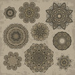 Set of ornamental vintage Floral elements for design