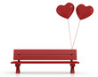 Red Bench of lovers