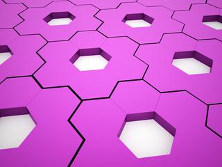 Pink hexagonal gears background