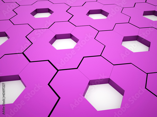 Pink hexagonal gears background