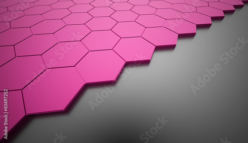 Pink hexagonal background