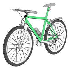 cartoon image of mountain bike