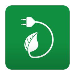 Etiqueta tipo app verde simbolo energia limpia