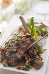 Cooked lamb chops