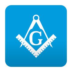 Etiqueta tipo app azul simbolo masoneria