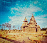 Shore temple - World  heritage site in  Mahabalipuram, Tamil Nad poster