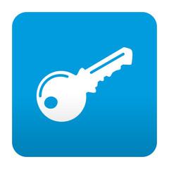 Etiqueta tipo app azul simbolo llave