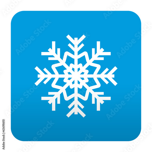 Etiqueta tipo app azul simbolo frio