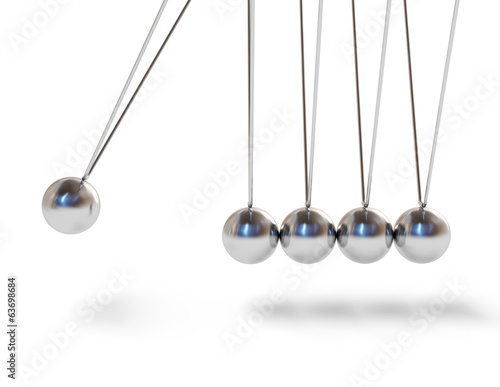 Action sequrence concept background - Newton's cradle executive
