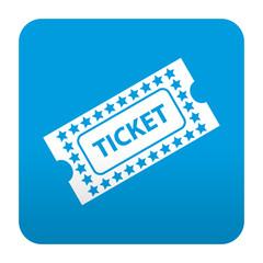 Etiqueta tipo app azul simbolo ticket