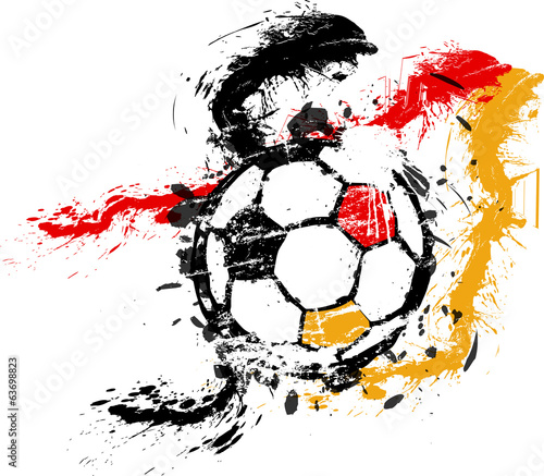 Soccer / Football illustration,germany, free copy space, vector