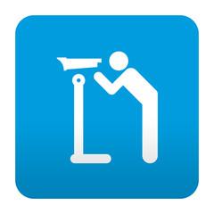 Etiqueta tipo app azul simbolo vista panoramica