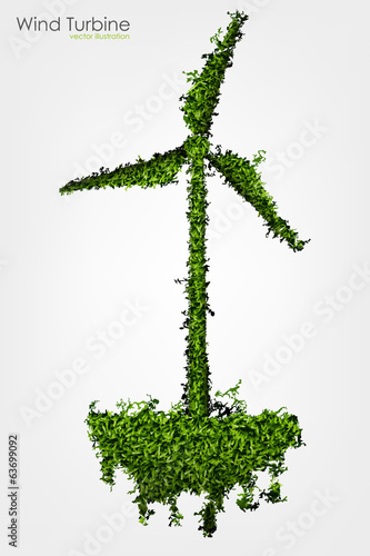 Simple Grass Covered Wind Turbine