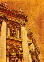 Santa Maria della Salute vintage style image