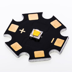 High Power SMD LEDs on Aluminium Star PCB
