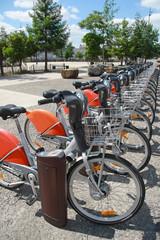 Rent a bike in city, public transportation