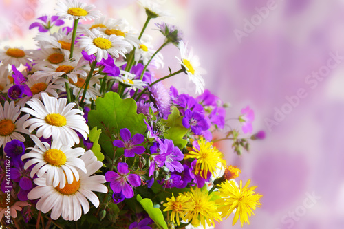 Colorful flowers  bouquet .