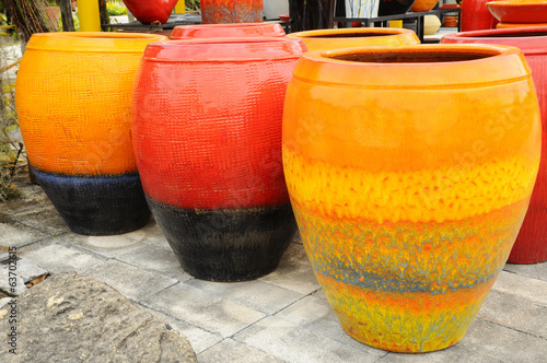 Large decorative vases