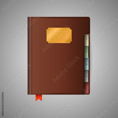 Illustration of notebook