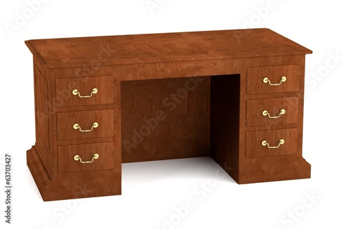 realistic 3d render of luxury table