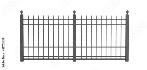 realistic 3d render of fence