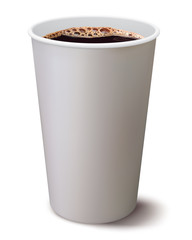 Coffee cup isolated. Illustration