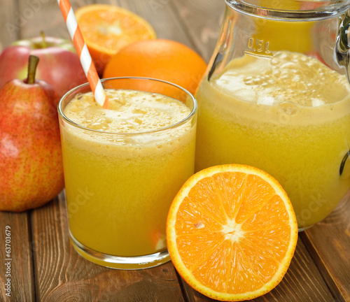 Fresh natural fruit juice