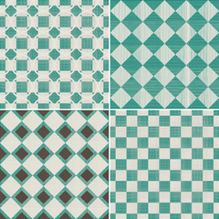 set of 4 seamless abstract backgrounds of different textures