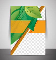 Green Nature Concept Print Template
