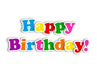 """HAPPY BIRTHDAY"" Card (party invitation message congratulations)"