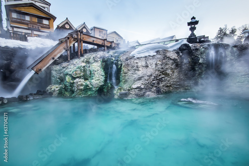 Leinwandbild Motiv Kusatsu hot spring