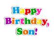 """HAPPY BIRTHDAY SON"" Card (party message congratulations love)"