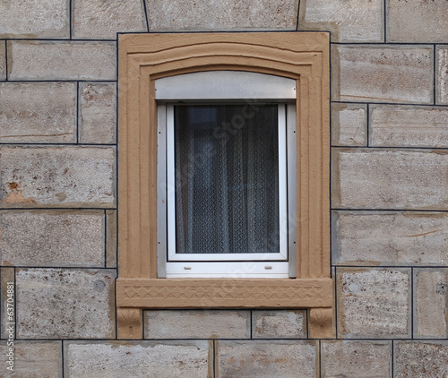 canvas print picture Hausfenster