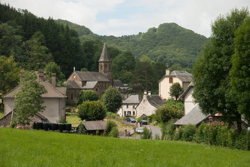Mandailles village, Auvergne, France