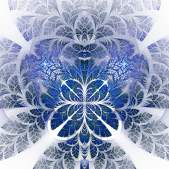 Fabulous fractal pattern in blue. Collectiont - tree foliage. Co