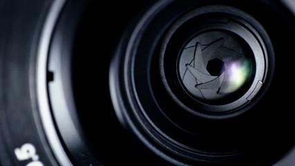 Camera shutter aperture transition