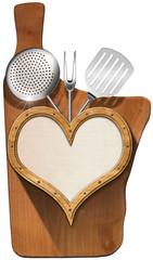 Cutting Board - Wooden Heart