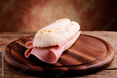 sandwitch with italian mortadella