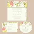 Wedding invitation card with beautiful floral background