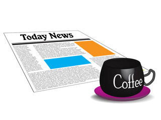 Today news and morning coffee