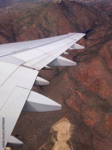 wing over mountain